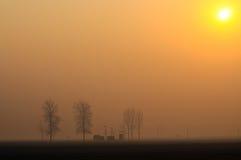 Salida del sol en el yermo Imagenes de archivo