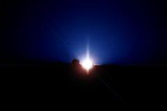 Salida del sol en espacio Fotografía de archivo
