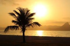 Salida del sol en Flamengo Imagenes de archivo