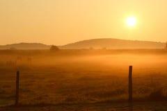Salida del sol en Francia foto de archivo