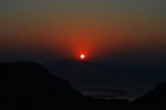 Salida del sol en Grecia Fotografía de archivo libre de regalías