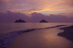 Salida del sol en Hawaii Fotos de archivo libres de regalías