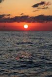 Salida del sol en Ibiza Foto de archivo libre de regalías