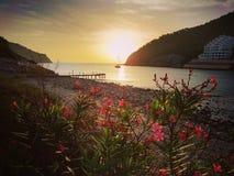 Salida del sol en Ibiza Fotos de archivo libres de regalías