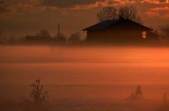 Salida del sol en invierno Imágenes de archivo libres de regalías