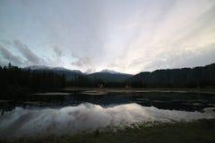 Salida del sol en Kanas Xinjiang Foto de archivo