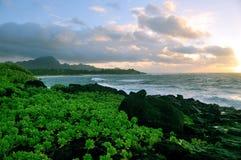 Salida del sol en Kauai imagen de archivo
