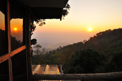 Salida del sol en khunstan Fotografía de archivo libre de regalías