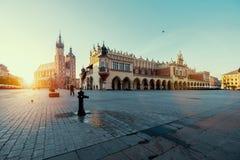 Salida del sol en Kraków polonia Imágenes de archivo libres de regalías