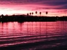 Salida del sol en la bahía fotografía de archivo libre de regalías