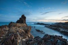 Salida del sol en la bahía de Byron Fotografía de archivo