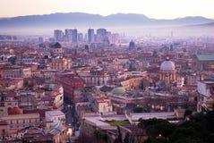 Salida del sol en la ciudad Nápoles Imágenes de archivo libres de regalías
