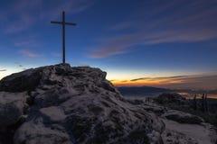 Salida del sol en la gran montaña de Arber fotos de archivo libres de regalías