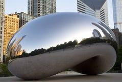 Salida del sol en la haba en Chicago Foto de archivo libre de regalías