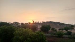 Salida del sol en la India del sur Fotografía de archivo libre de regalías