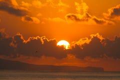 Salida del sol en la isla de Bali Imágenes de archivo libres de regalías