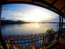 Salida del sol en la isla de Langkawi Fotos de archivo
