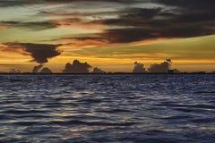 Salida del sol en la isla de Sanibel Imagenes de archivo