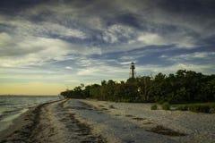 Salida del sol en la isla de Sanibel Foto de archivo