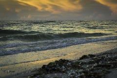 Salida del sol en la isla de Sanibel Fotos de archivo