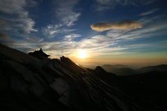 Salida del sol en la montaña de Taiwán Nanhu Imagenes de archivo
