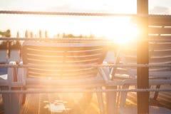 Salida del sol en la piscina Fotografía de archivo libre de regalías