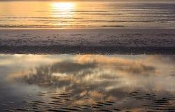 Salida del sol en la playa de Hua-Hin Fotografía de archivo