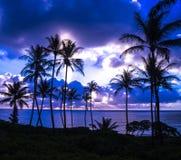Salida del sol en la playa de Makapu'u, Oahu, Hawaii Fotos de archivo