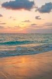 Salida del sol en Punta Cana Imagen de archivo