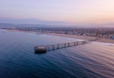 Salida del sol en la playa de Venecia en Los Ángeles Fotografía de archivo