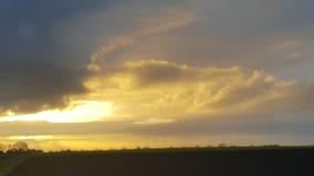 Salida del sol en la primavera Foto de archivo libre de regalías