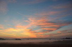 Salida del sol en la reserva de Slough de la cesta, Oregon Imágenes de archivo libres de regalías