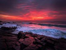 Salida del sol en la roca de Chakas Imagenes de archivo