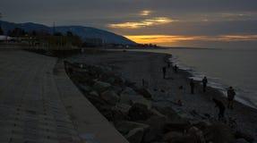 Salida del sol en la Sochi Imagen de archivo libre de regalías