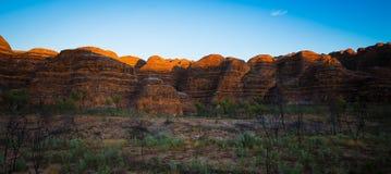 Salida del sol en las colmenas - chapucer3ias de la chapucer3ia, Kimberley, Aus occidental imágenes de archivo libres de regalías
