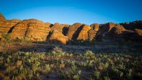 Salida del sol en las colmenas - chapucer3ias de la chapucer3ia, Kimberley, Australia occidental Imagen de archivo libre de regalías