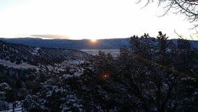 Salida del sol en las montañas Imagenes de archivo