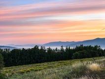 Salida del sol en las montañas blancas en New Hampshire Foto de archivo