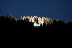 Salida del sol en las montan@as suizas foto de archivo