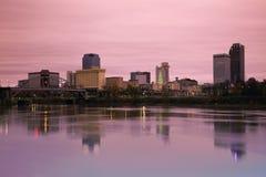Salida del sol en Little Rock, Arkansas Imágenes de archivo libres de regalías