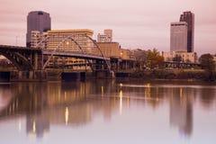 Salida del sol en Little Rock, Arkansas. Foto de archivo libre de regalías