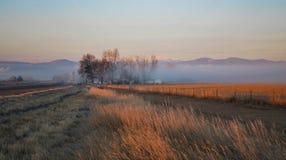 Salida del sol en Loveland, Colorado Fotografía de archivo