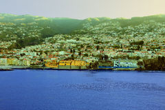 Salida del sol en Madeira fotografía de archivo