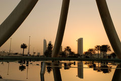 Salida del sol en Manama Fotografía de archivo libre de regalías