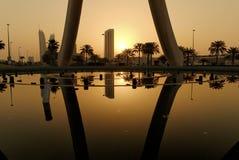 Salida del sol en Manama Fotos de archivo libres de regalías
