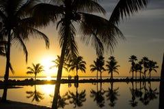 Salida del sol en Miami Fotos de archivo