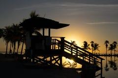 Salida del sol en Miami Fotografía de archivo
