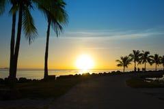 Salida del sol en Miami Foto de archivo libre de regalías