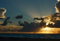 Salida del sol en Miami fotos de archivo libres de regalías
