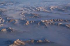 Salida del sol en montañas mongoles Fotos de archivo libres de regalías